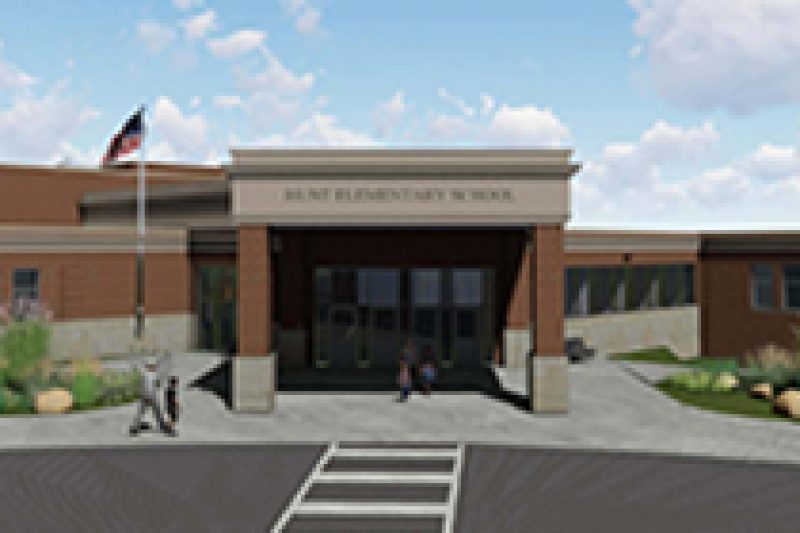 Hunt A+ Arts Elementary front Exterior Building Rendering.