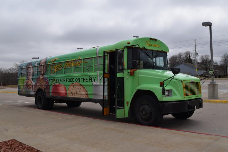 SCCSD Green Food Service Truck used for meal programs